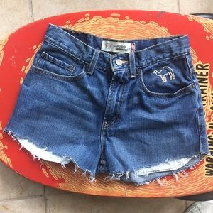 Levi's Cutoffs with Embroidered Camel